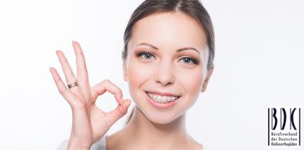 Große Zufriedenheit mit kieferorthopädischen Behandlungen