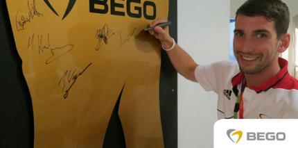 Erste Athleten in der BEGO-Zahnarztpraxis behandelt
