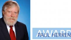 Prof. Dr. Rolf Gordon Behrents mit Paul Herren Award ausgezeichnet