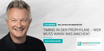 Neues Live-Webinar der praxisHochschule mit Prof. Dr. Ralf Rößler