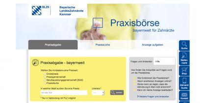 Neues Online-Angebot der BLZK für Praxiskäufer und -verkäufer