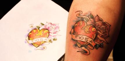 Ungeliebte Tattoos einfach wegcremen