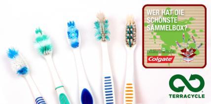 Alte Zahnbürsten gegen grünen Garten tauschen