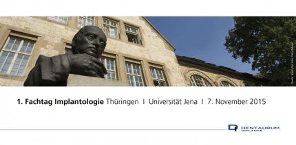 Premiere in Thüringen: 1. Fachtag Implantologie von Dentaurum