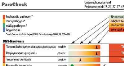 Parodontitisdiagnostik: Keime in der Mundhöhle