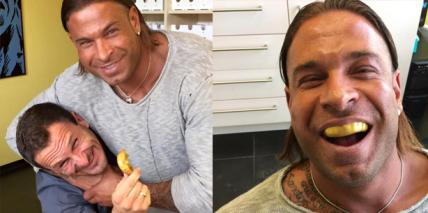 Goldener Zahnschutz für Ex-Keeper und Mucki-Mann Tim Wiese