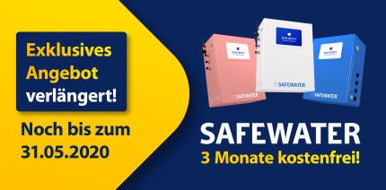 Sparoffensive verlängert: SAFEWATER 3 Monate kostenfrei nutzen