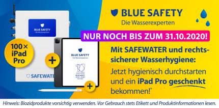 Noch bis 31.10.20 für SAFEWATER entscheiden – iPad Pro erhalten