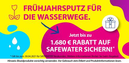 Frühjahrsputz für die Wasserwege – bis zu 1.680 Euro Rabatt auf SAFEWATER sichern