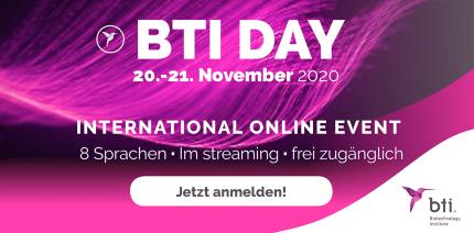 Kostenfreies, internationales Online-Event: BTI DAY 2020