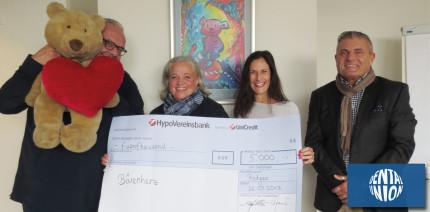 Spendenaktion der Dental-Union GmbH für Bärenherz