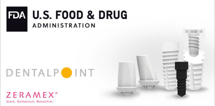 Dentalpoint erhält FDA-Zulassung für das ZERAMEX® XT