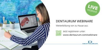 Jetzt anmelden: Das Webinar-Programm von Dentaurum ist online