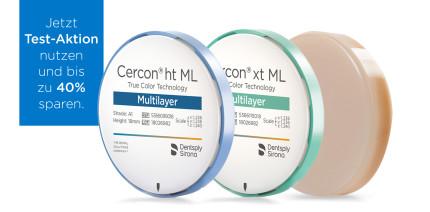 Dentsply Sirona: Test-Aktion für Cercon Multilayer-Disks