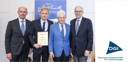DGI-Präsident Professor Frank Schwarz erhält Jan Lindhe Award