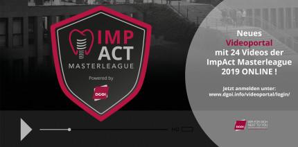 DGOI: Neues Videoportal mit 24 Vorträgen der ImpAct Masterleague 2019