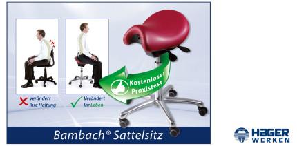 Der Bambach-Sattelsitz – Schafft Entspannung für den Rücken
