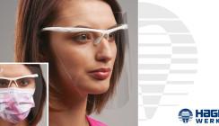 Optimaler Gesichtsschutz für Nase, Mund und Augen