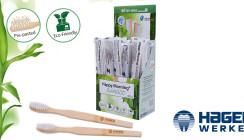 Für das schnelle Frischegefühl - die neue Einmalzahnbürste aus Bambus