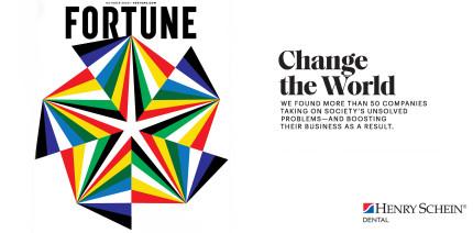 """Henry Schein in der """"Change the World""""-Liste der Zeitschrift Fortune®"""
