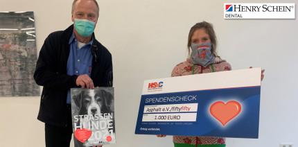 Henry Schein Dental spendet 1.000 Euro an Asphalt e.V.