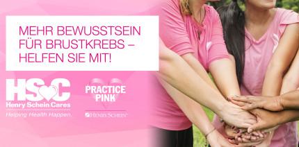 Practice Pink: Henry Schein macht auf Brustkrebsvorsorge aufmerksam