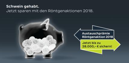 Schwein gehabt. Jetzt sparen mit den Röntgenaktionen 2018