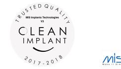 MIS-Implantatoberfläche: Wiederholt ausgezeichnete Qualität!
