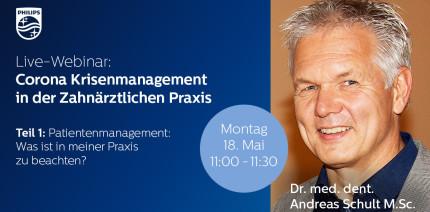 """Corona Krisenmanagement in der Zahnarztpraxis"""