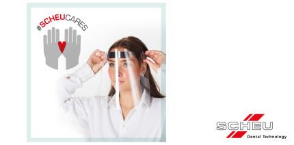 #SCHEUCARES: Unternehmen produziert Kunststoffvisiere