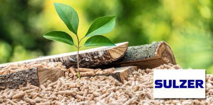Sulzer ermöglicht die Produktion von 70.000 Tonnen Biomasse-Pellets