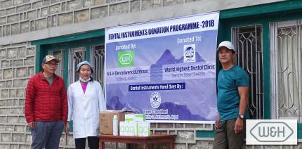 Höchstgelegene Dentalklinik der Welt: W&H spendet Produkte