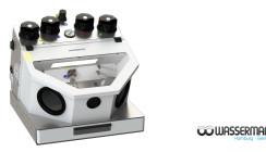2, 3 oder 4: Feinstrahlgeräte von Wassermann an Laborbedarf angepasst