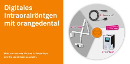 Digitales Intraoralröntgen mit x-on tube<sup>AIR</sup> von orangedental