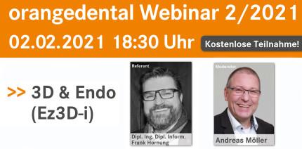 orangedental Webinar am 2. Februar: 3D & Endo (Ez3D-i)
