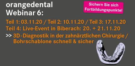 orangedental lädt zur Webinar-Serie über 3D-Diagnostik ein