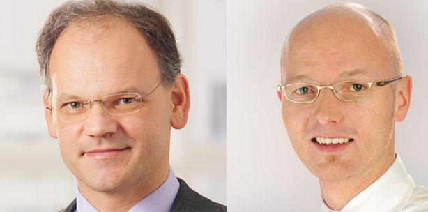 Vorstand der Flemming Dental AG, und <b>Jens Bünemann</b> (re. - flemming_dpt