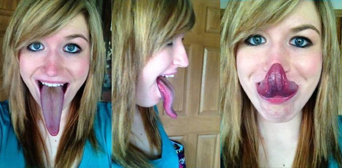 Diese Frau hat die längste Zunge der Welt
