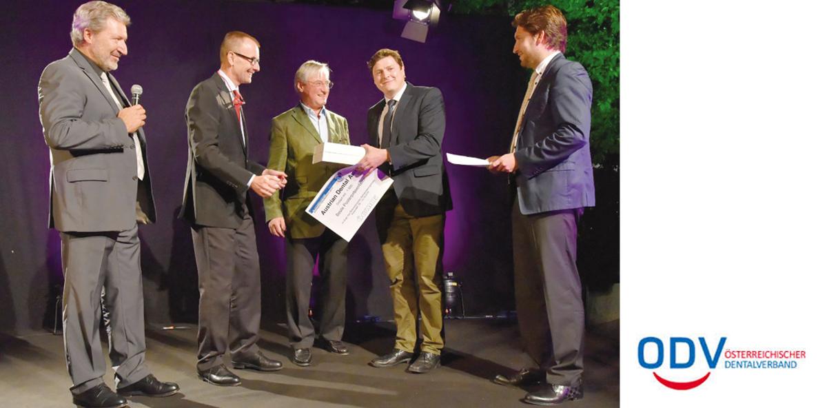 Beste Arbeit ausgezeichnet – Verleihung des Austrian Dental Awards 2015