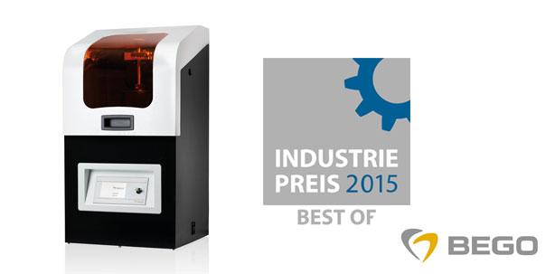 Auszeichnung für den 3D-Drucker Varseo von BEGO