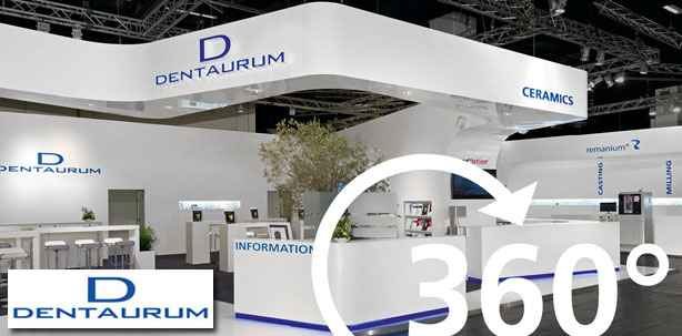 Der virtuelle 360° IDS-Messestand der Dentaurum-Gruppe