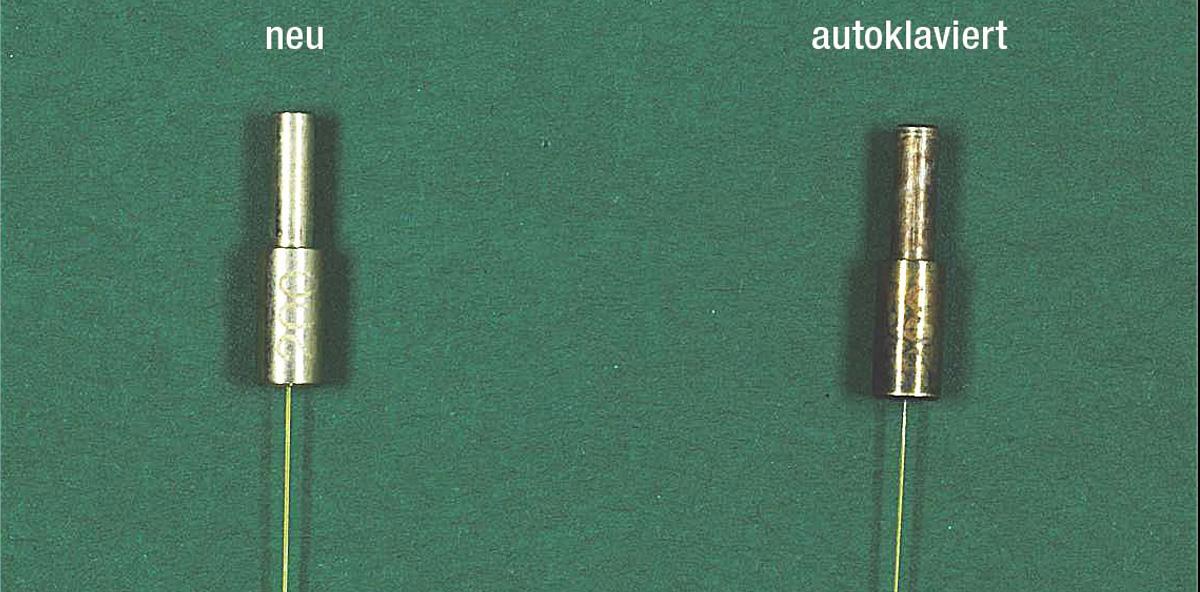 Aufbereitung und Sterilisation optischer Fasern von Diodenlasern