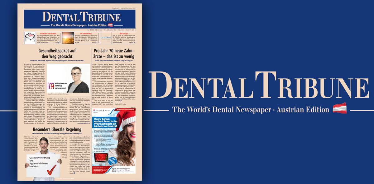 Die Dental Tribune Austrian Edition 12/2016 ist da