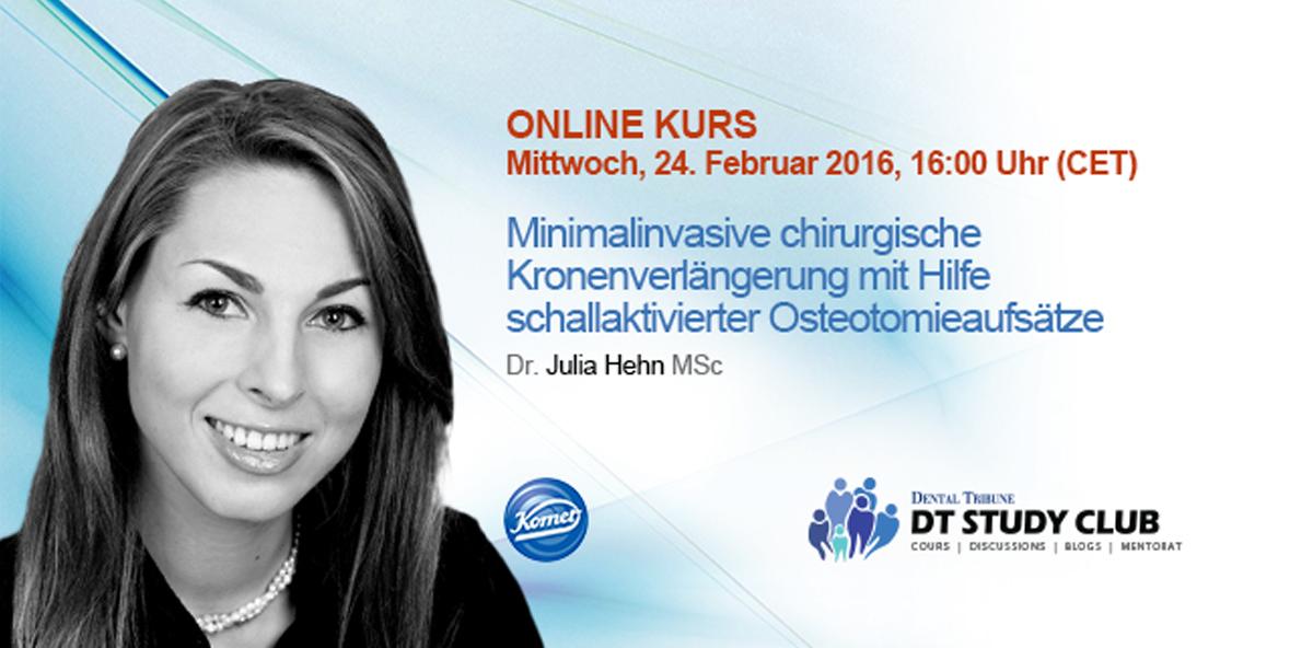 Live-Webinar zur minimalinvasiven chirurgischen Kronenverlängerung