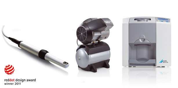 Drei Dürr Dental-Produkte im Design-Olymp