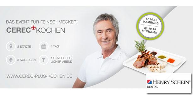 Henry Schein lädt zum ersten CEREC+ Kochen-Event ein