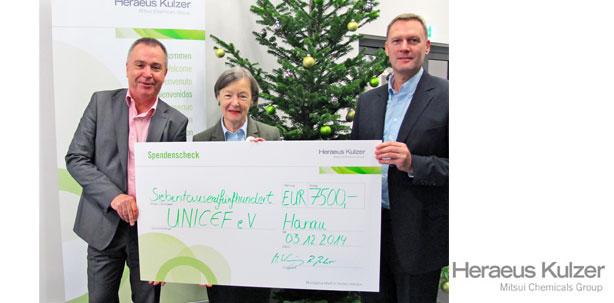 Heraeus Kulzer spendet für UNICEF