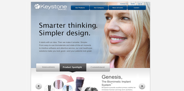 Keystone Dental startet neue Website