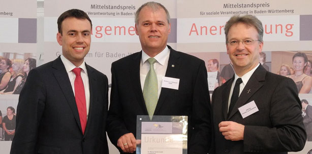 Lea Mittelstandspreis für soziale Verantwortung für Dr. Walser Dental