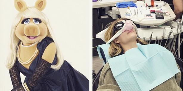 Promibesuch beim Zahnarzt: LeeAnn Rimes und der rosa Rüssel